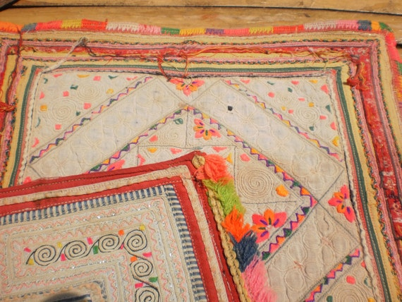 Hmong Tribal Vintage Embroidery 2 Pieces