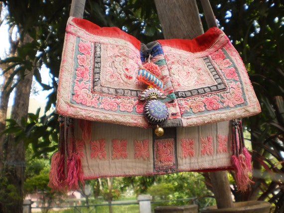 Hmong Tribal Vintage HandMade Bag