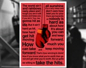 Rocky Balboa Inspirational Quote - Typography Poster Print (A3 size)