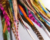 Bulk Rooster Feathers Colourful Craft Feathers Salon Supplies Mixed Feathers for Craft Supplies Wholesale Feather Jewelry Qty50