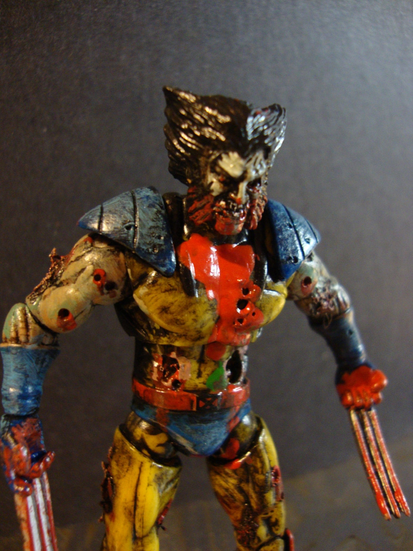 marvel zombies wolverine undead action figure 3 3 4. Black Bedroom Furniture Sets. Home Design Ideas