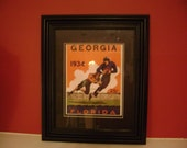 Vintage 1934 Georgia-Florida Gators Official football program print ready for framing