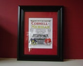 Vintage 1915 Cornell-Michigan Official football program print ready for framing
