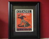 Vintage 1932 Citadel-Florida Official football program print ready for framing