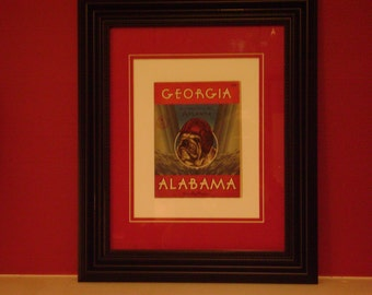 Vintage 1921 Georgia Bulldog-Alabama Official football program print