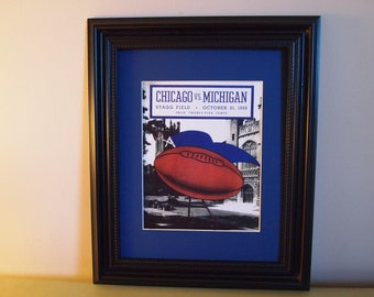 Vintage 1939 Chicago-Michigan Official football program print ready for framing