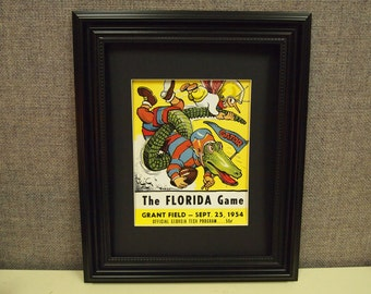 Vintage1954 Georgia Tech-Florida Official football program print ready for framing