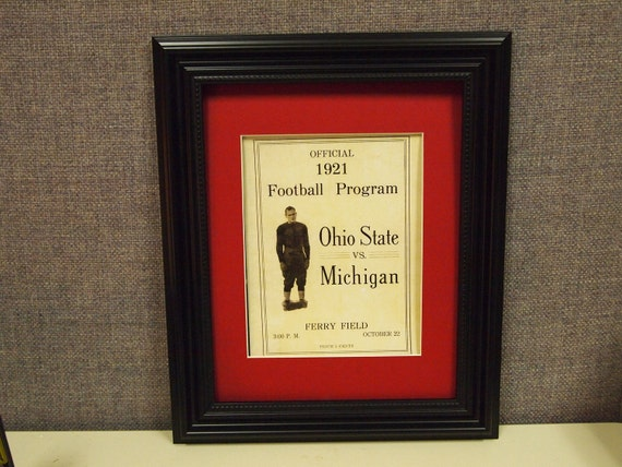 Vintage 1921 Ohio State-Michigan Official football program print ready for framing