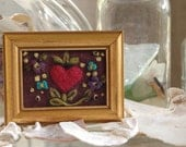 Felted Heart 3x2 Framed Picture