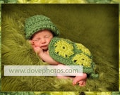 Turtle outfit for a newborn