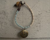 Handmade woven locket bracelet