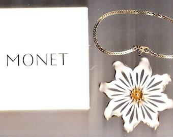 Lot MONET Pin,  MONET Herringbone Bracelet, MONET Choker Necklace. Monet Rhinestone Hat Brooch