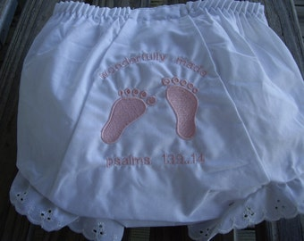 Embroidered Diaper Cover Infants Toddler Girls Diaper Cover Bloomers Panties Size 0-4 Available Embroidery