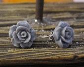 Chanelle Rose Earring - Resin Post Stud Earring