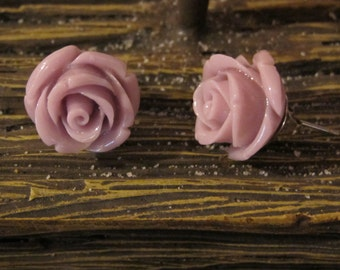 Vintaged Rose Resin Earring, Rose Earring