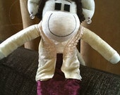 Downton Abbey Inspired Sock Monkey as gifted to Elizabeth McGovern