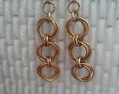 Byzantine double flower earrings