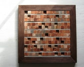 Abstract Painting, Art,Painting, Rustic Modern Wood Sculpture Wall Art Distressed