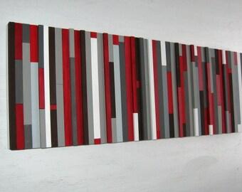 Modern Wood Sculpture, Wall Art, Painting, Abstract, Reclaimed Wood Wall Art, Wood Wall Art