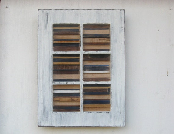 Distressed Modern Rustic Wall Sculpture - 16x22 Available