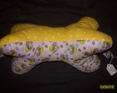 Dog Bone Shaped Neck Pillow w/ handles in Easter Prints with handles