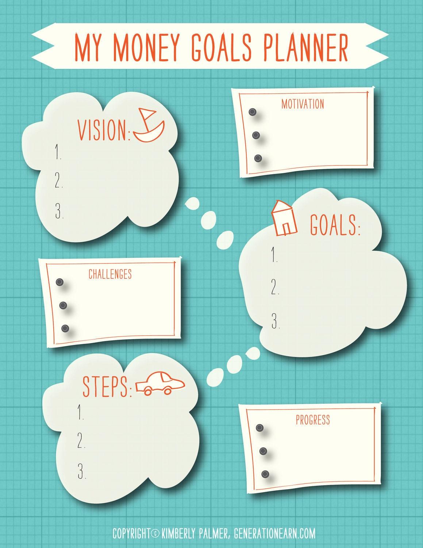 Custom money goals planner by kspalmer on etsy for Custom photo planner
