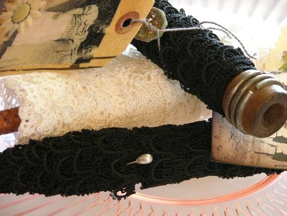 Six Yards of Gorgeous Black Vintage Lace Crochet Trim