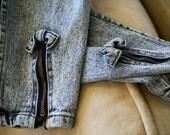Vintage 80's Jordache Acid-wash Skinny Stretch Jeans