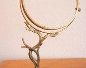 Antique Golden Tree Mirror Stand