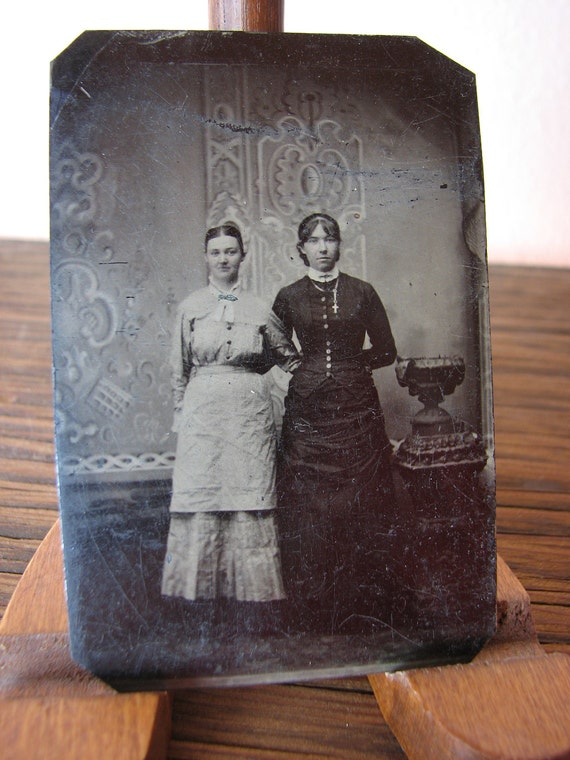 Tin Type - Two young ladies
