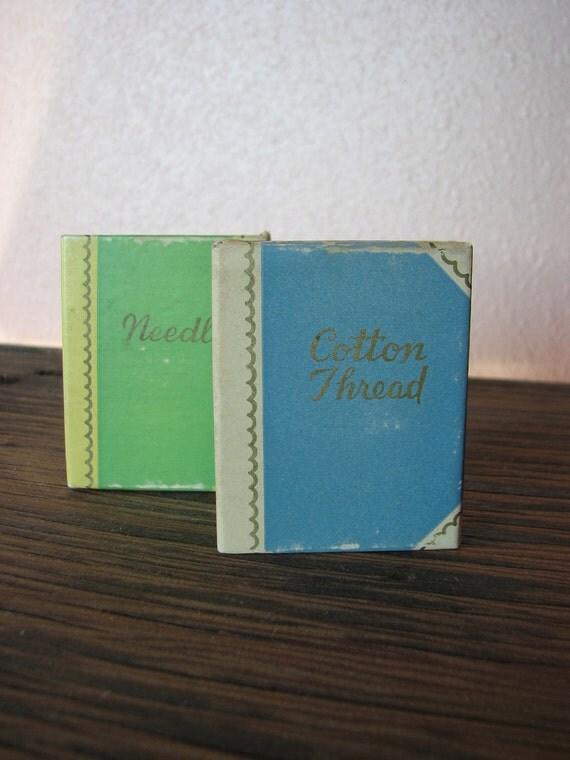 Miniature Match Box Books for Needles and Thread