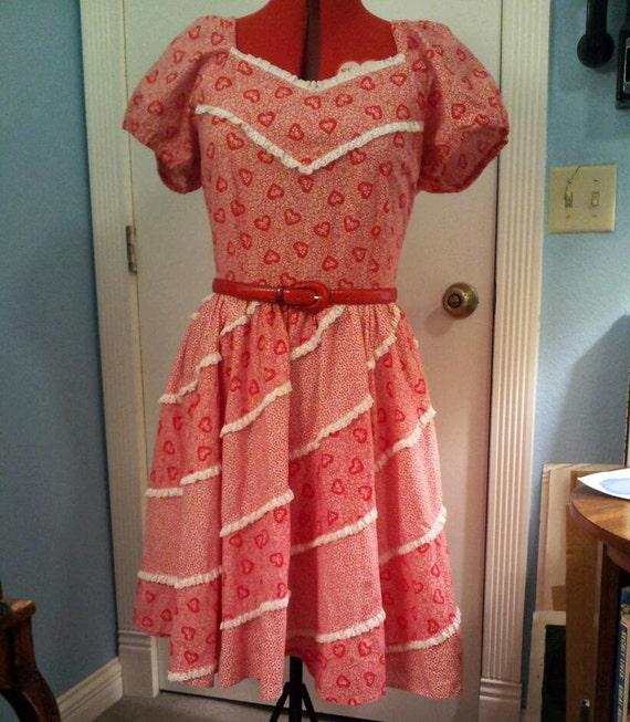 Vintage Valentine Dress (L-XL)