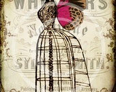 Fairy Godmother's Boudoir 5 x 7 Digital Collage Print