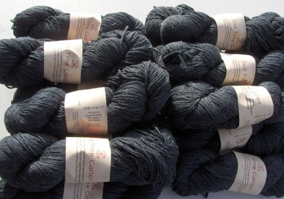 2nd Time Cotton knitting yarn Charcoal