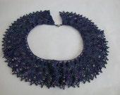 Ecuadorian Style Spider Web Collar Necklace