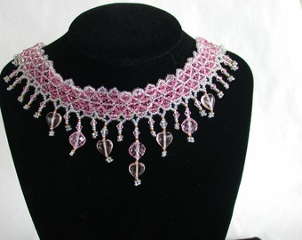 Cool Pink Choker Necklace