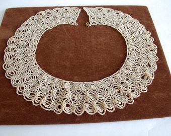Cream Color Lacy Collar Necklace
