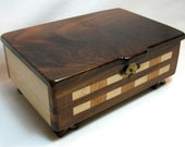 Wood Jewelry Box - Handmade from Walnut, Cherry & Maple Hard Woods
