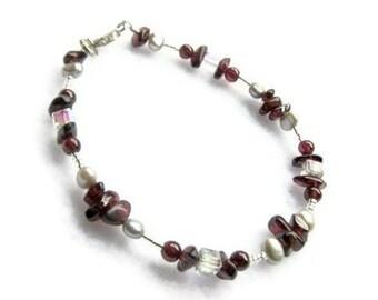 Garnet Bracelet - January Birthstone Garnet Bracelet - Women's Jewelry