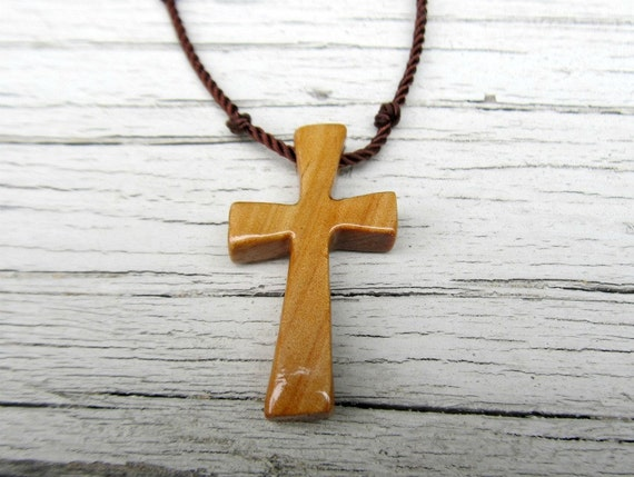 Necklaces for Men - Rustic - Hand Crafted Cross - Australian Cypress