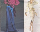 Vogue Pattern, Yves Saint Laurent top. skirt, cumberbund