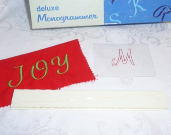 Singer Deluxe Monogrammer Letter M Cam and Placement Guide