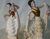 RESERVED - Fancy Dancing Ladies Salt & Pepper Shakers
