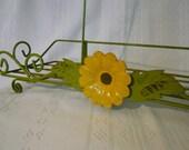 Flower Power Green Metal Catch-all