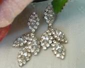 Fancy Rhinestone Chandelier Earrings