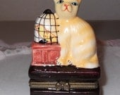 Cat and Canary Trinket Box