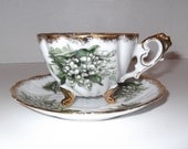 Vintage Footed Teacup & Saucer
