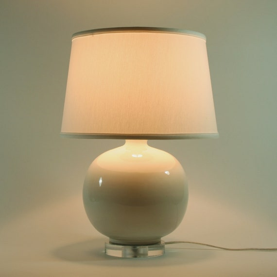 White Ceramic Accent Lamp - Base only