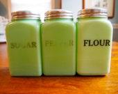 McKee Glass Jade-ite Range Spice Jars -- Choose 1 to 3