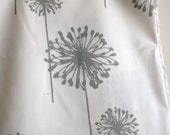 White/Storm Grey Dandelion Home Decor Weight Fabric from Premier Prints - ONE YARD